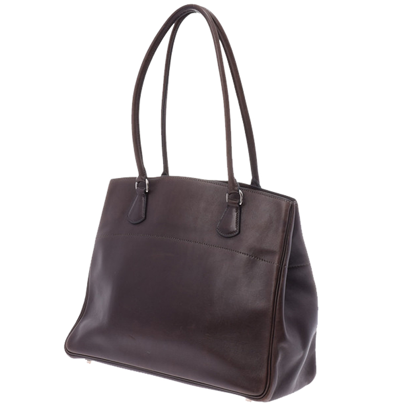 Hermes Brown Leather Bag
