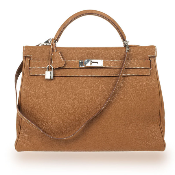 518a6a525d7e Buy Hermes Tan Togo Leather 40cm Kelly Bag 26342 at best price