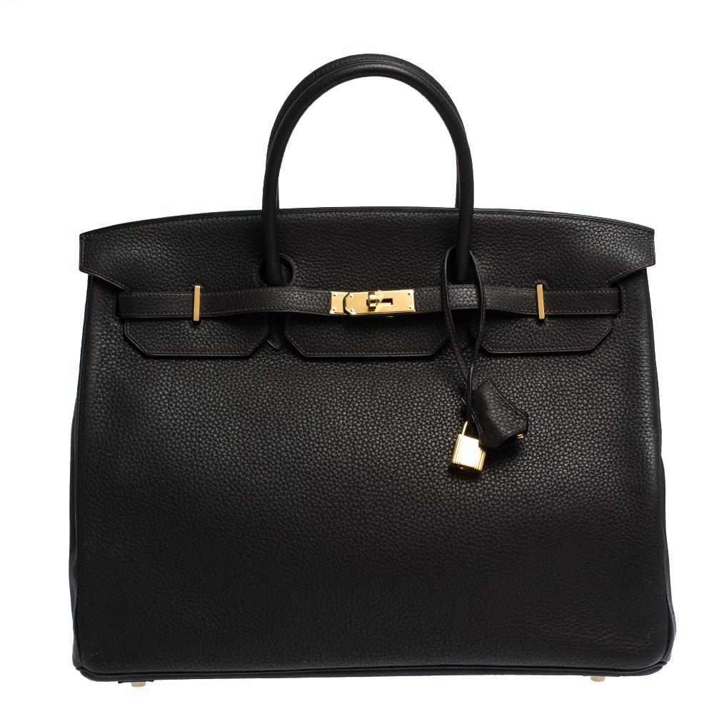 Hermes Cafe Togo Leather Gold Hardware Birkin 40 Bag