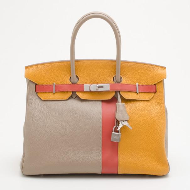 Buy Hermes Tri-Color Casaque Leather Birkin Bag 34514 at best price ... b7bfce52c