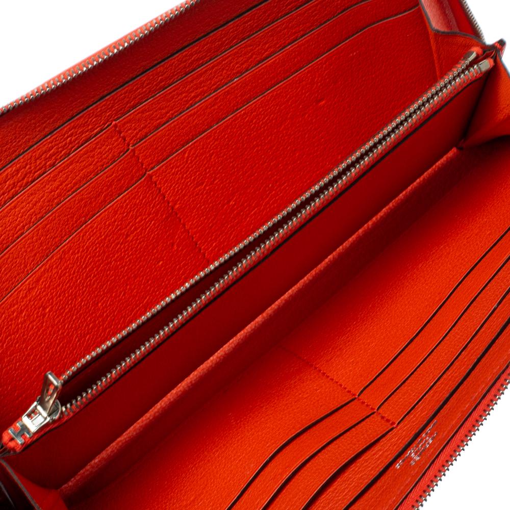 Hermès Multicolor Leather Pegasus Pop Azap Long Wallet, Hermes  - buy with discount