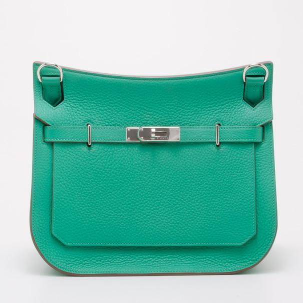 Hermes Menthe Taurillon Leather Sac Jypsiere Messenger Bag