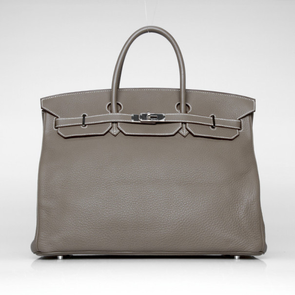 bc442e7d35f7 Buy Hermes Birkin 40 Etoupe Clemence Leather 38100 at best price