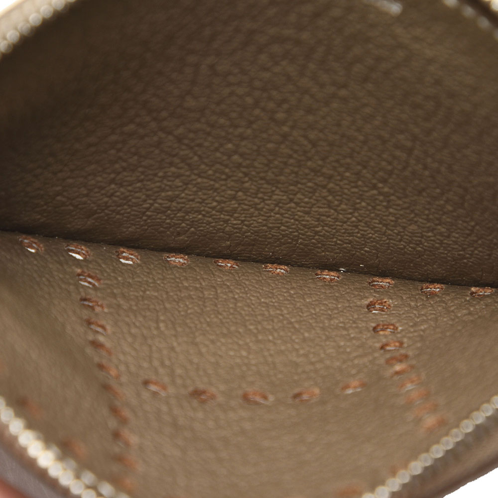 Hermes Brown Leather Evelyn Coin Purse