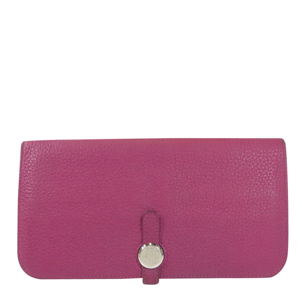 Pre-owned Hermes Purple/pink Leather Dogon Wallet