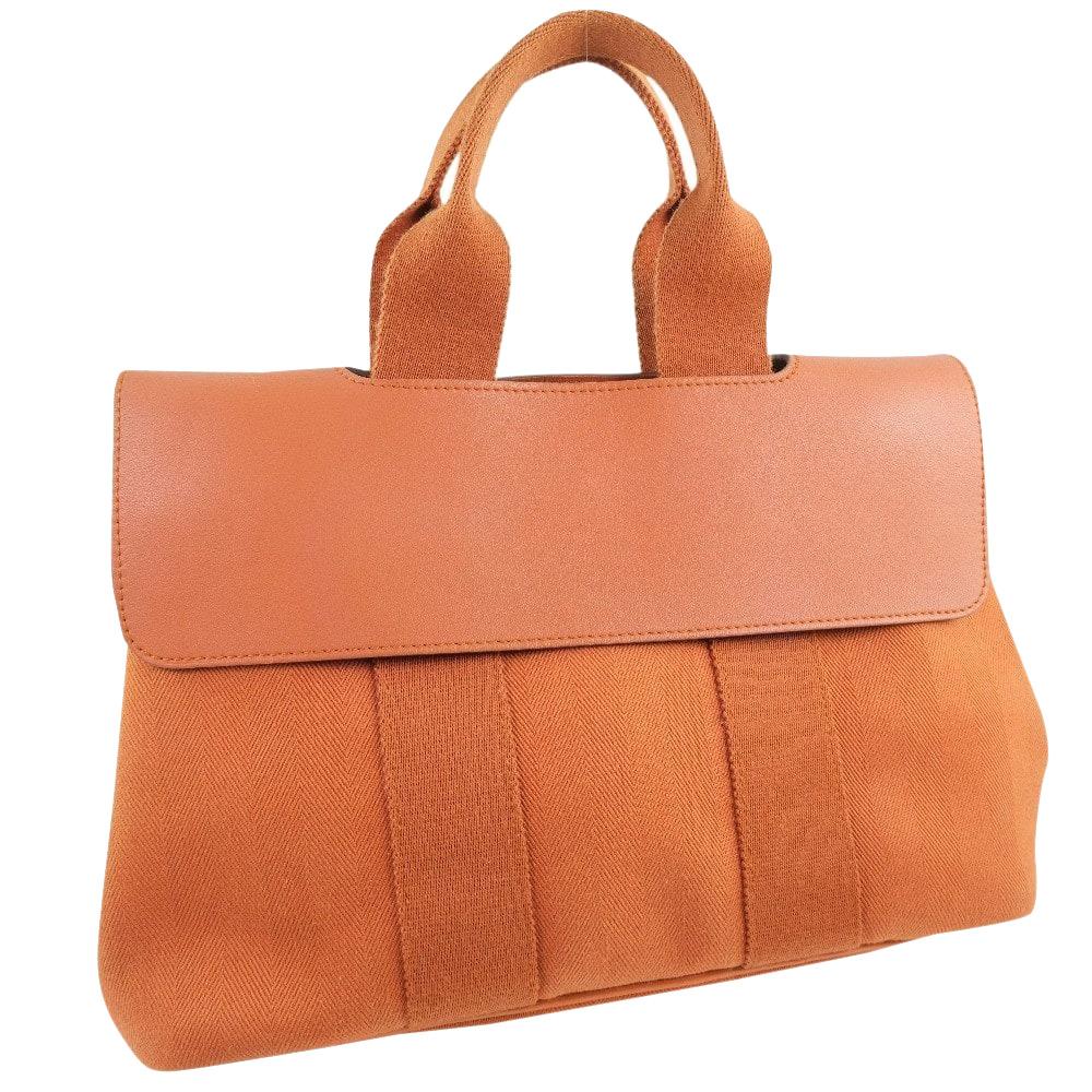 Pre-owned Hermes Orange Valparaiso Pm Satchel Bag