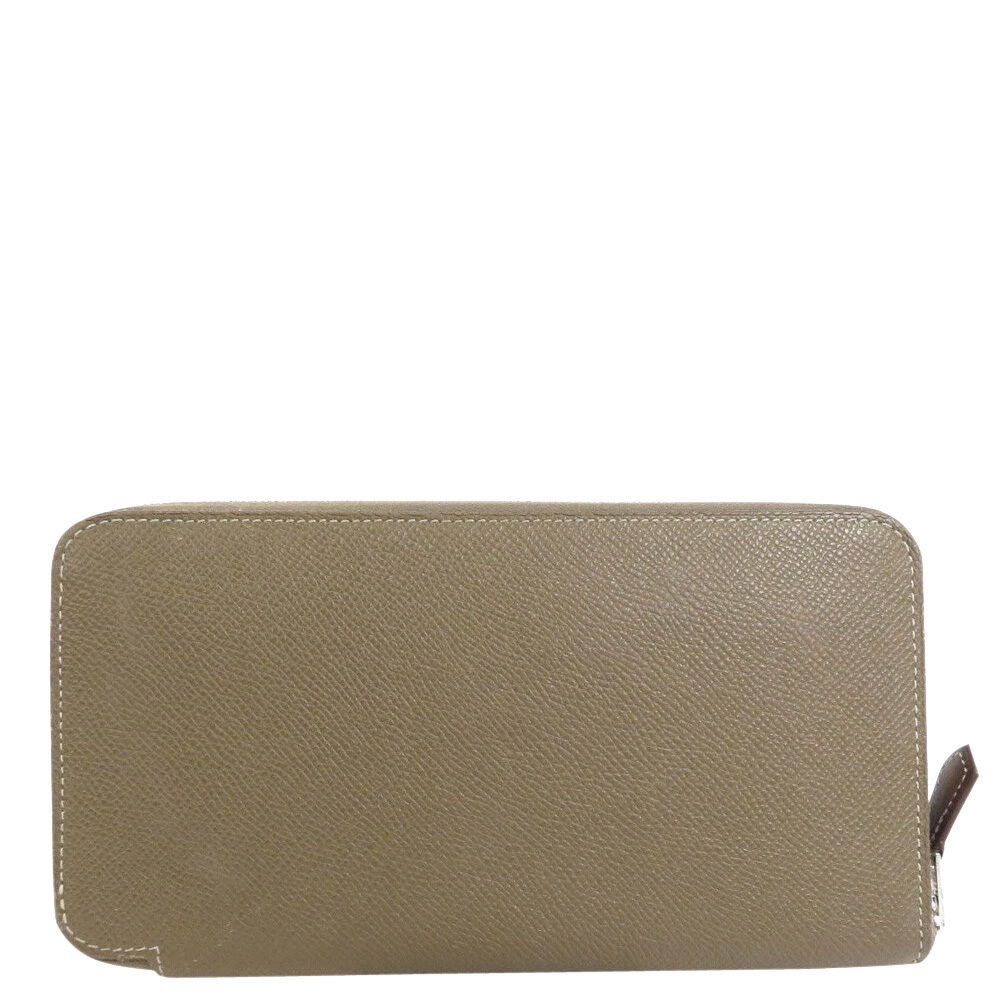 Pre-owned Hermes Grey Epsom Leather Azap Wallet