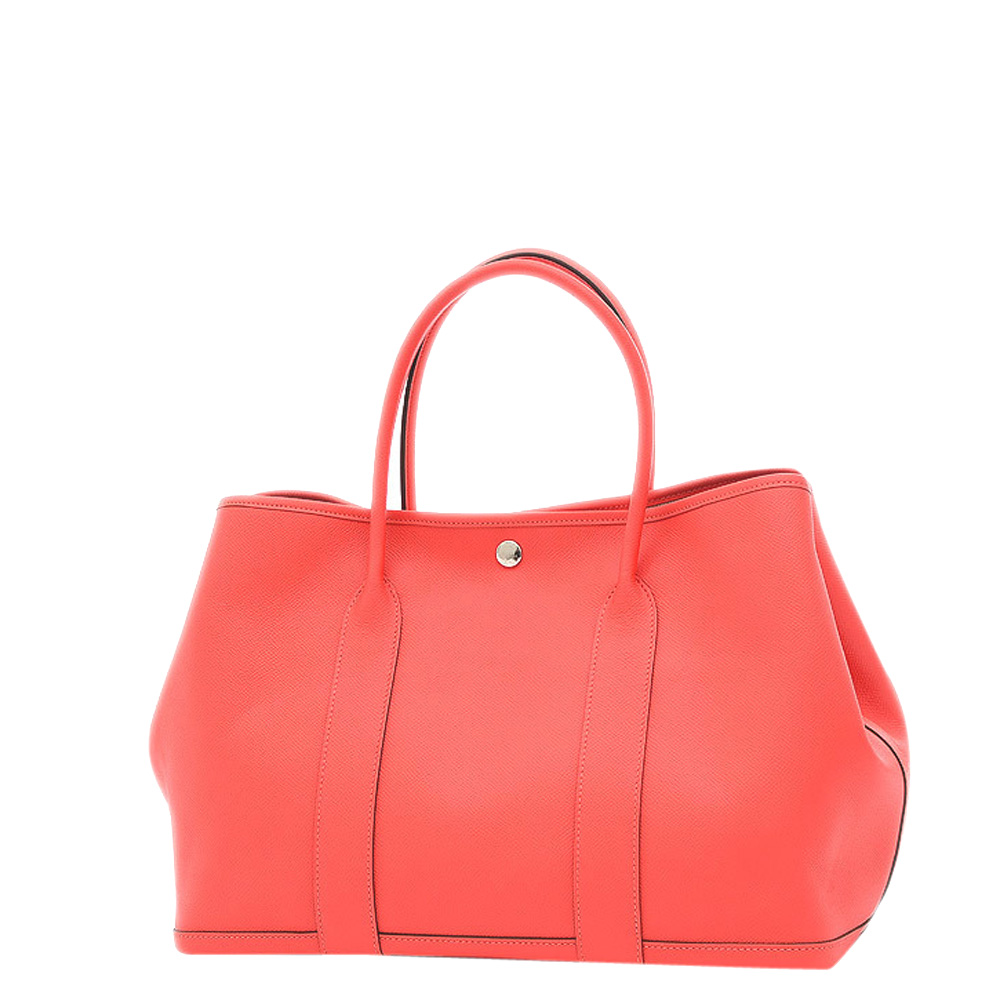 Pre-owned Hermes Pink Leather Medium Garden Party 36 Tote Bag