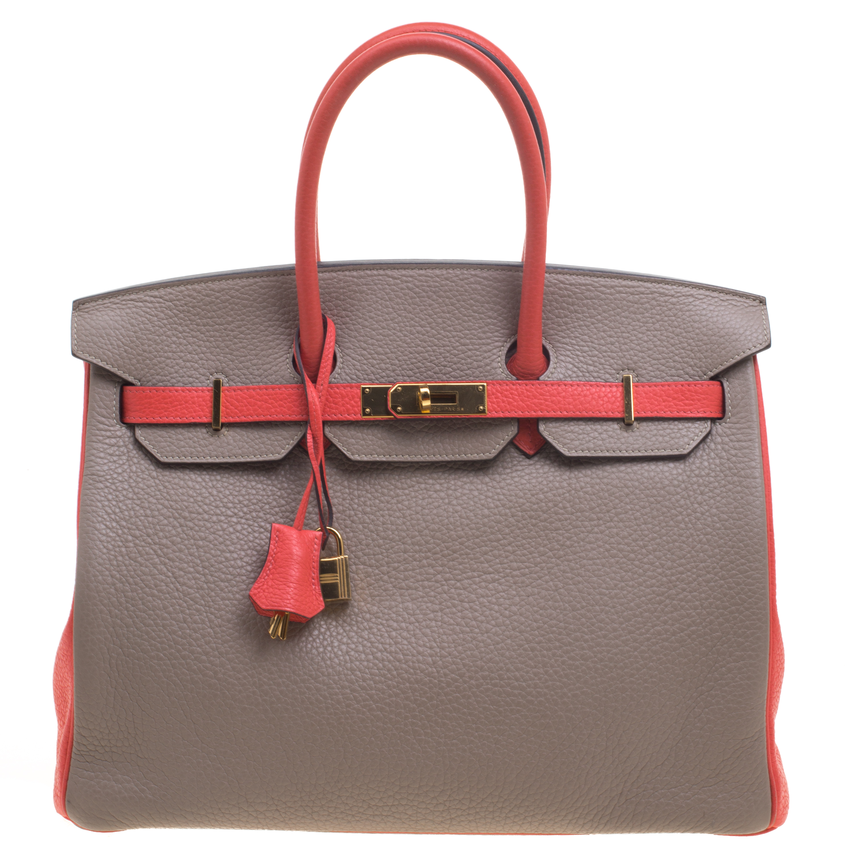 Buy Hermes Etain Bougainvillea Clemence Togo Leather Gold Hardware Special  Order Birkin 35 Bag 95017 at best price  a8032f98edd65