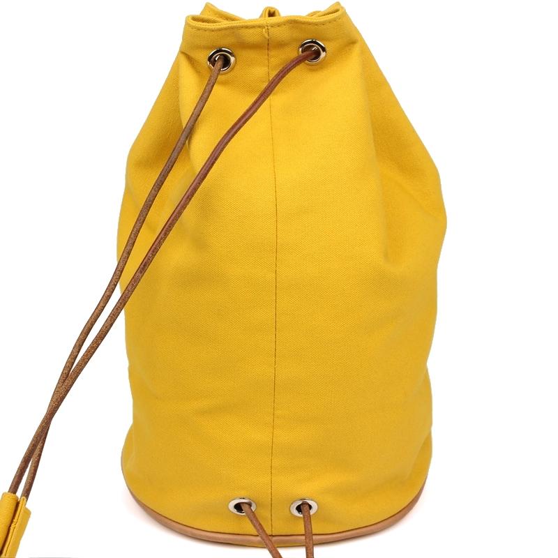 90f9aae43c7d Buy Hermes Yellow Canvas Sac Polochon Drawstring Backpack 182147 at ...