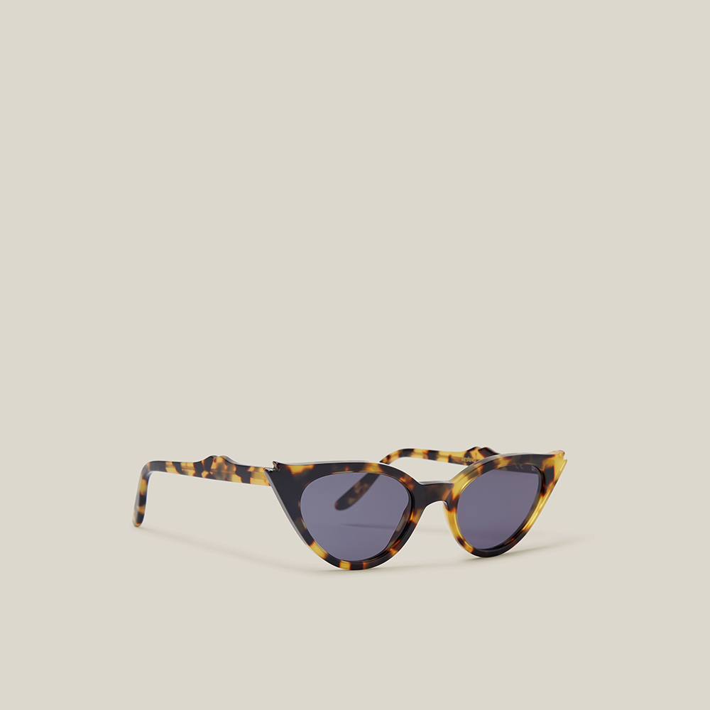 Illesteva Animal Isabella Tortoiseshell Cat Eye Sunglasses