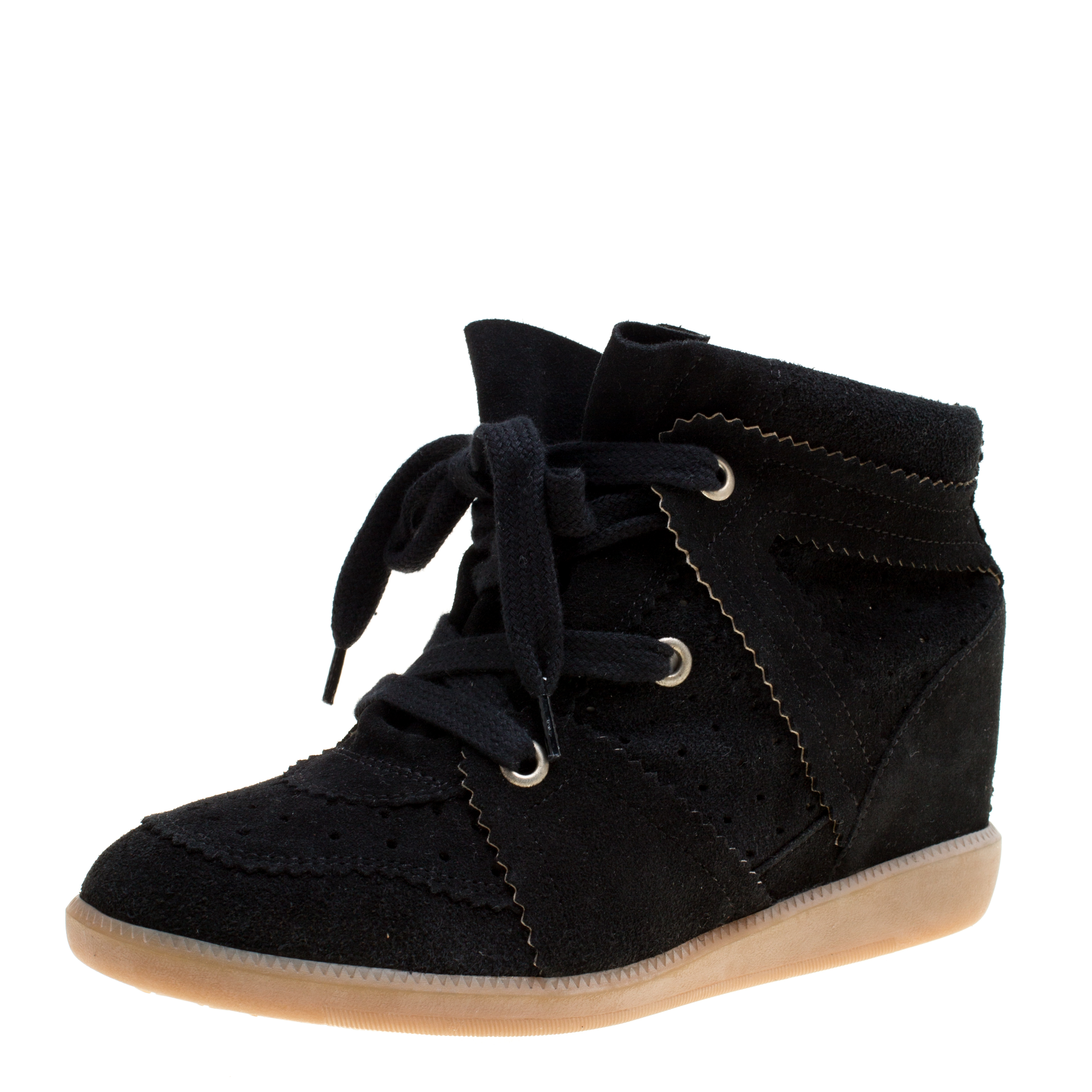 678bb34f2ed1 ... Isabel Marant Black Suede Bobby Lace Up Wedge Sneakers Size 40.  nextprev. prevnext
