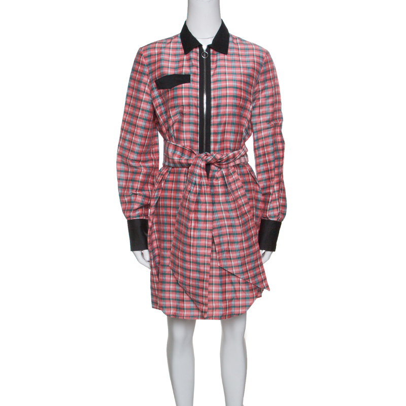 b00028fb3ee Buy Isabel Marant Checked Ramie and Silk Contrast Trim Belted Mofira ...