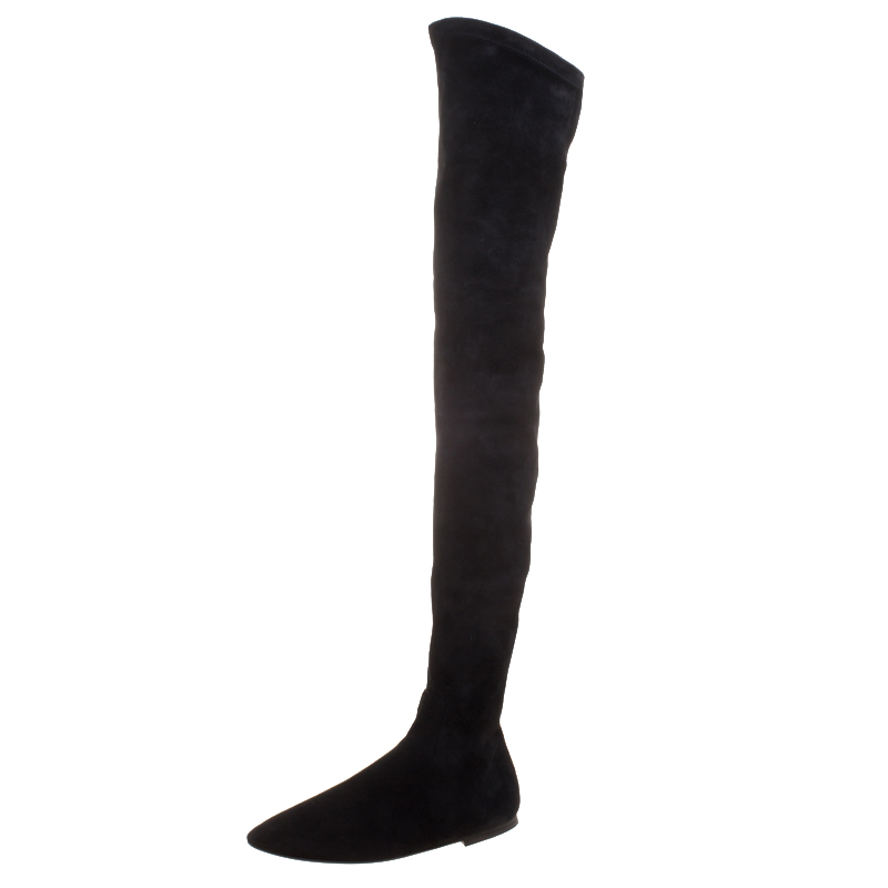 87157529efc ... Isabel Marant Black Stretch Suede Brenna Over Knee Thigh High Boots  Size 39. nextprev. prevnext