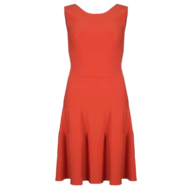 cb0df84bbdb Buy Issa London Blood Orange Ribbed Stretch-Knit Dress S 4731 at ...