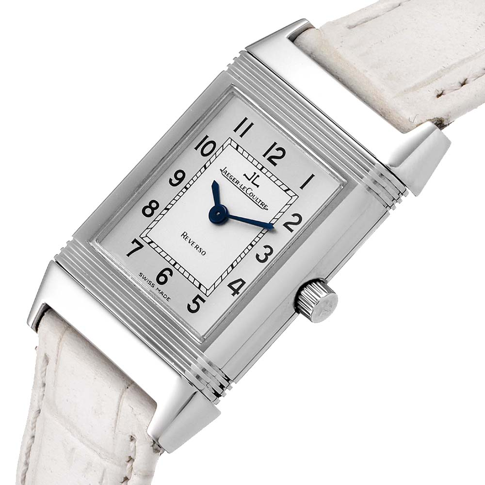 Jaeger LeCoultre Silver Stainless Steel Reverso Classique 260.8.08 Women's Wristwatch 33 x 20 MM  - buy with discount