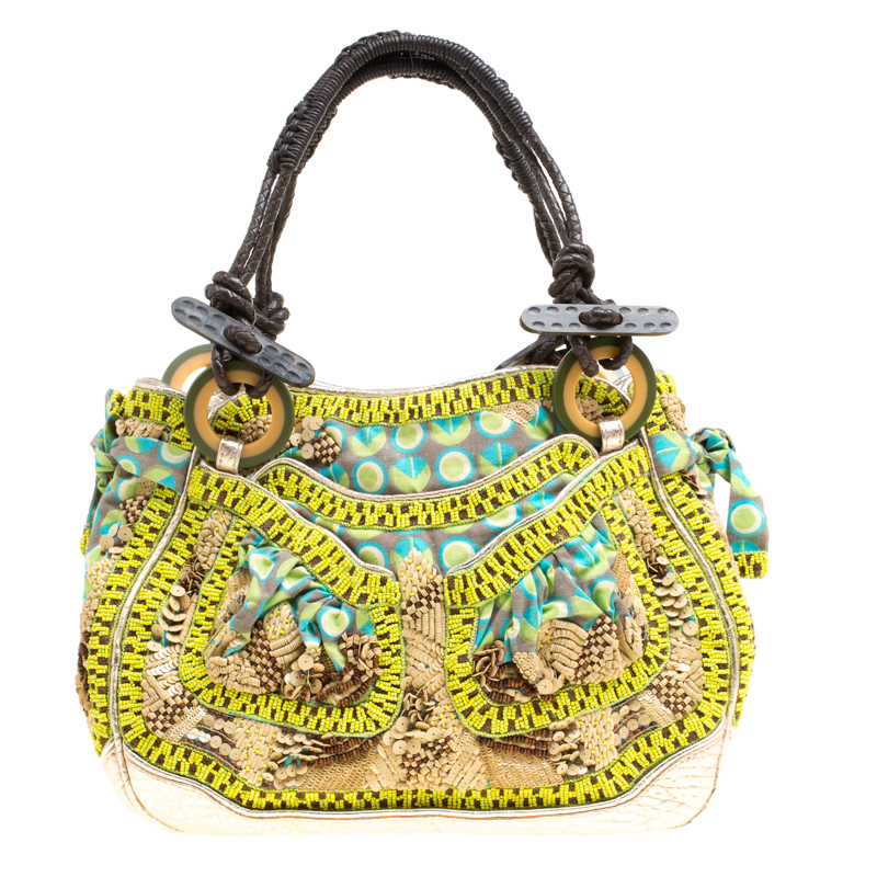 8b7684c7a35f64 Jamin Puech Multicolor Leather And Fabric Embellished Shoulder. Leather And  Fabric Patchwork Crossbody Bag Nextprev Prevnext