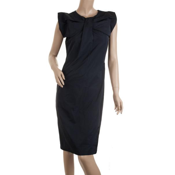 Jil Sander Navy Blue Silk Dress S
