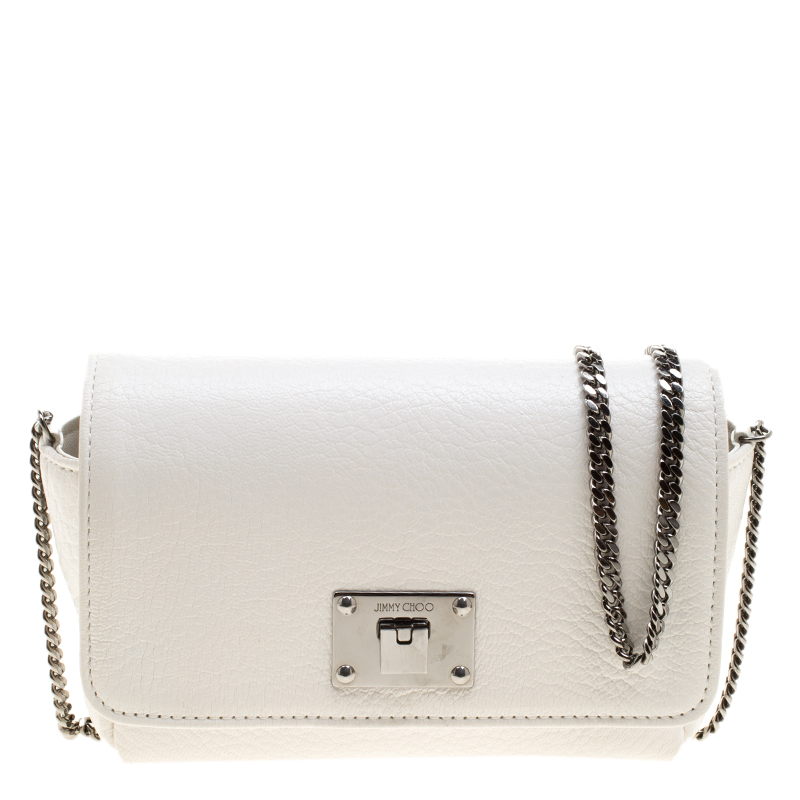 ecbcb930929 Buy Jimmy Choo White Leather Ruby Crossbody Bag 134334 at best price ...