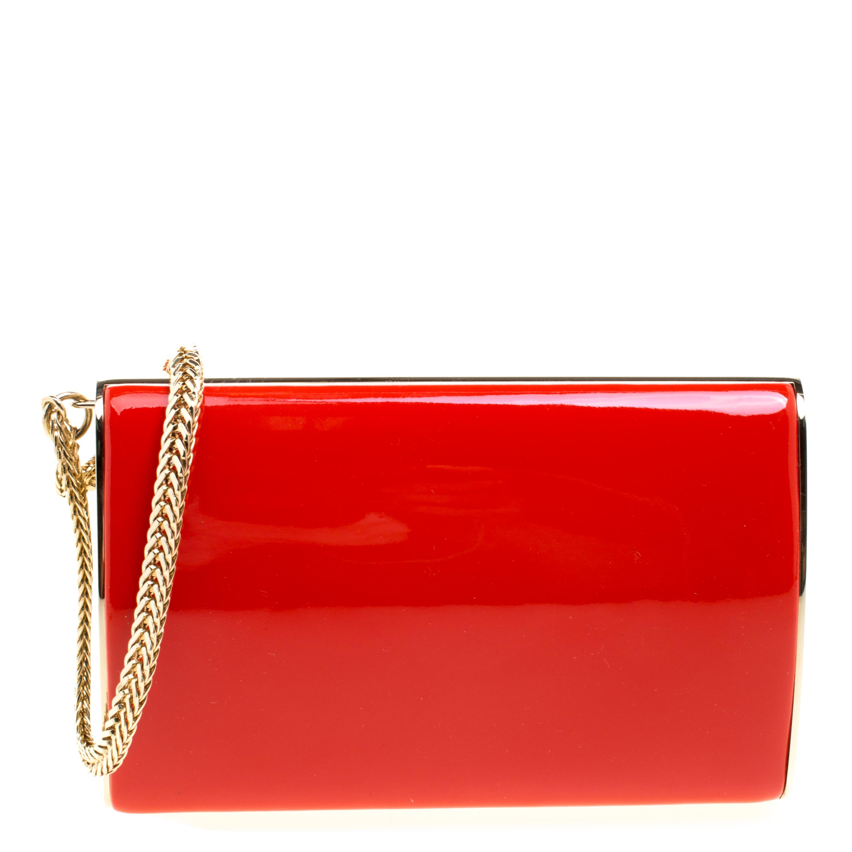 8c531a15cf28 ... Red Patent Leather Carmen Chain Wristlet Clutch. nextprev. prevnext