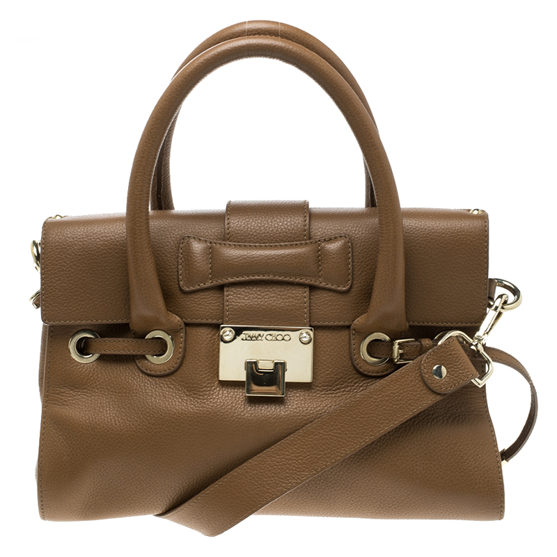 a8eabd5b1044 ... Jimmy Choo Brown Leather Small Rosalie Top Handle Bag. nextprev.  prevnext