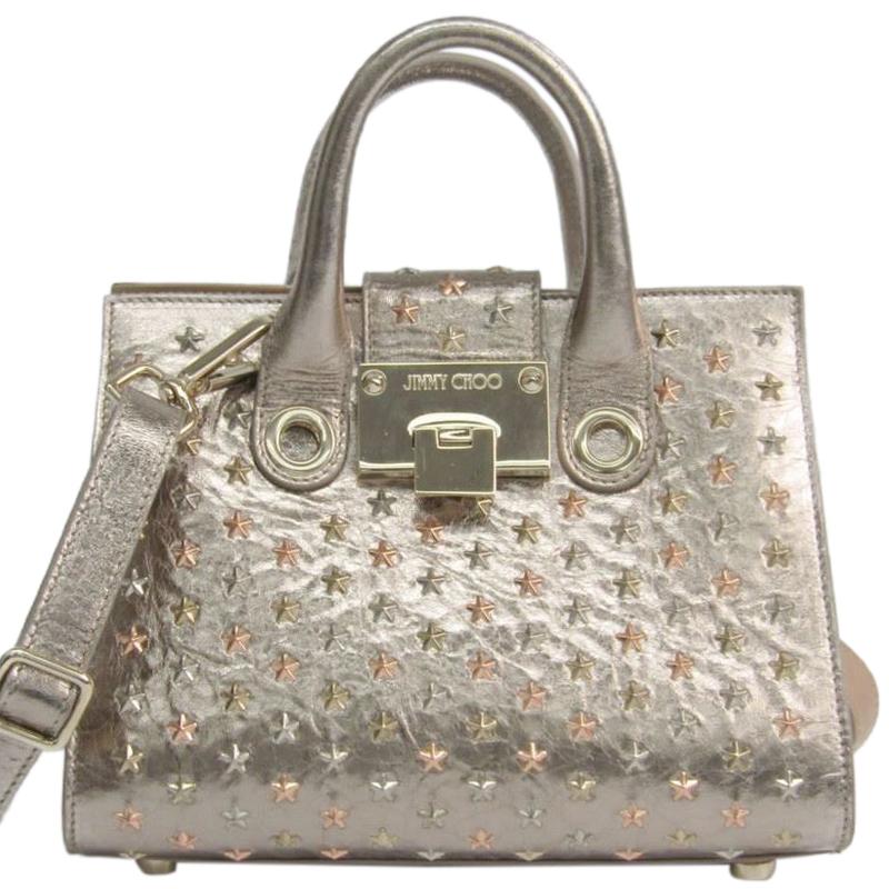 46824d588f ... Jimmy Choo Champagne Gold Leather Star Studded Small Riley Bag.  nextprev. prevnext