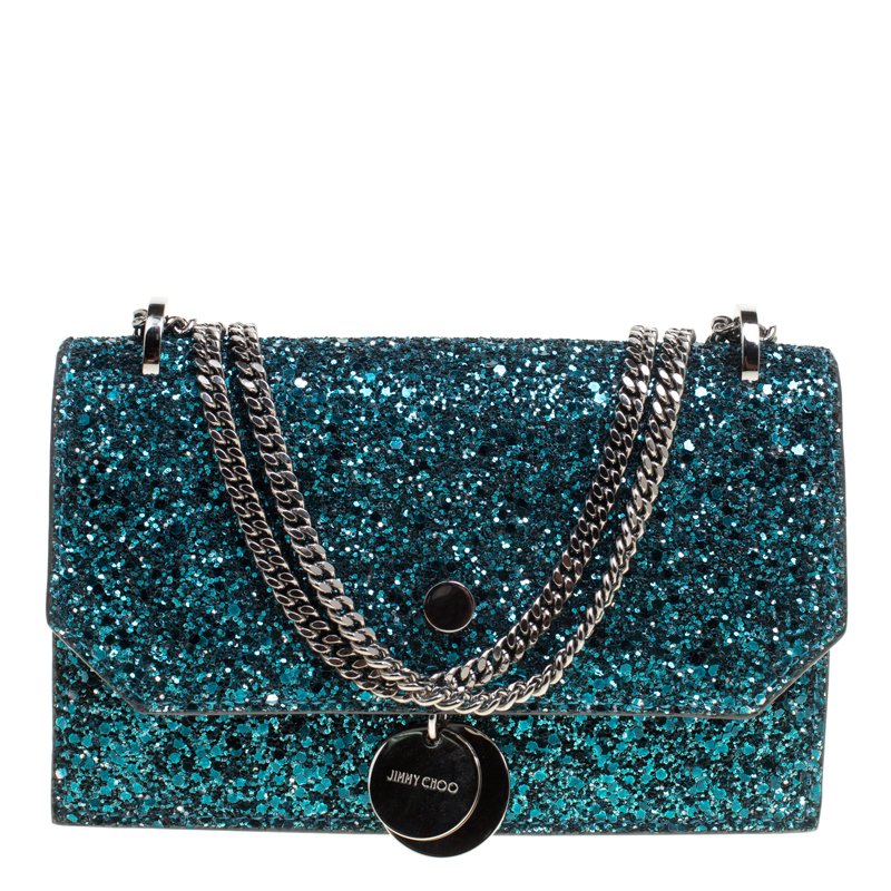 81543c68ce5e ... Jimmy Choo Blue Glitter Finley Crossbody Bag. nextprev. prevnext
