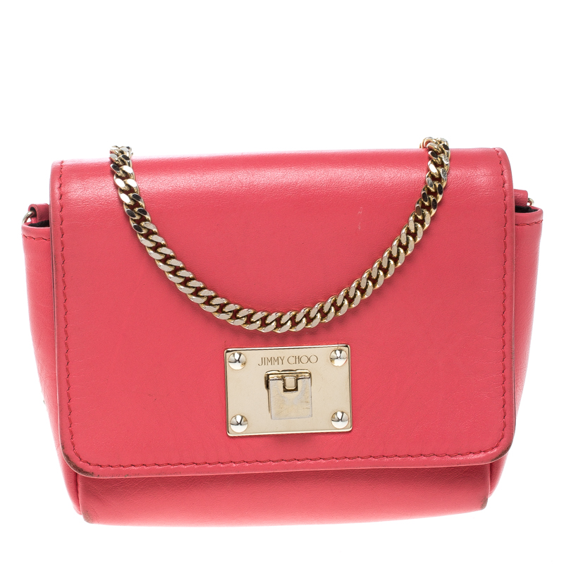 1b04b2a6c0f ... Jimmy Choo Hot Pink Leather Mini Ruby Crossbody Bag. nextprev. prevnext
