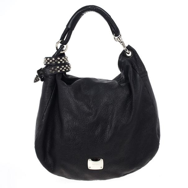 9041c39d5b ... Jimmy Choo Black Leather Sky Studded Belt Hobo Bag. nextprev. prevnext