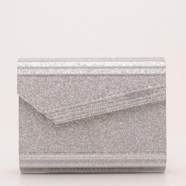 242bd3c4a83d6 Buy Jimmy Choo Silver Candy Clutch Bag 36962 at best price