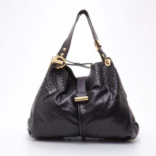 f3358c3784d Buy Jimmy Choo Black Leather Alex Shoulder Bag 37947 at best price | TLC