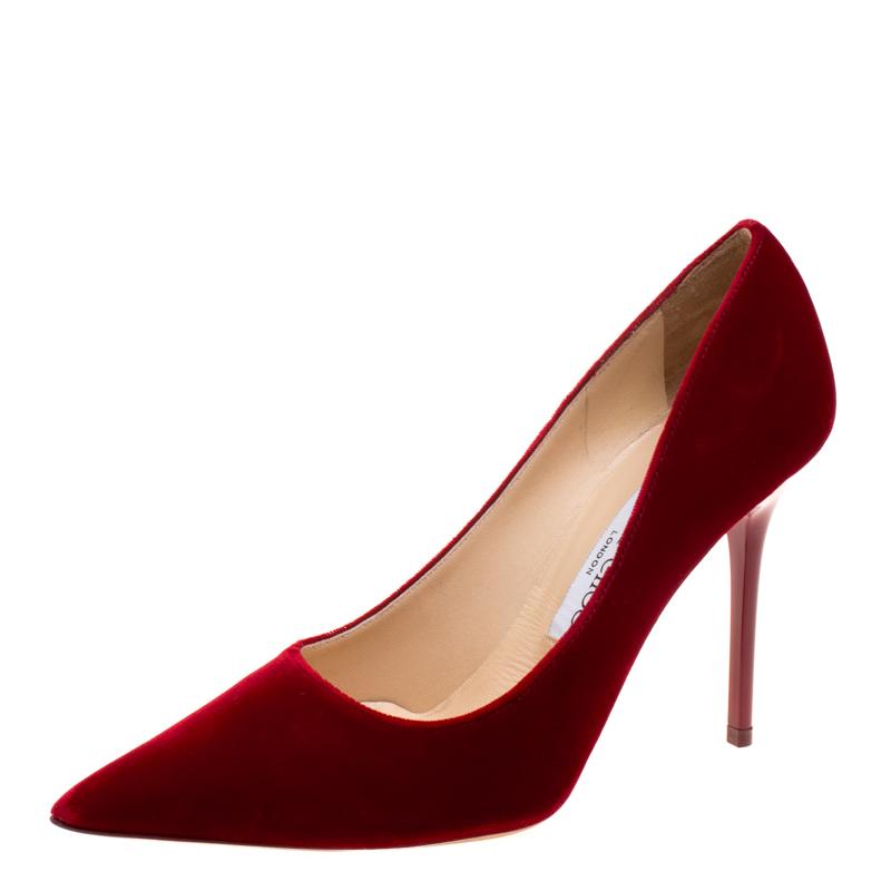 ef00d8a700c ... Jimmy Choo Red Velvet Abel Pointed Toe Pumps Size 36. nextprev. prevnext