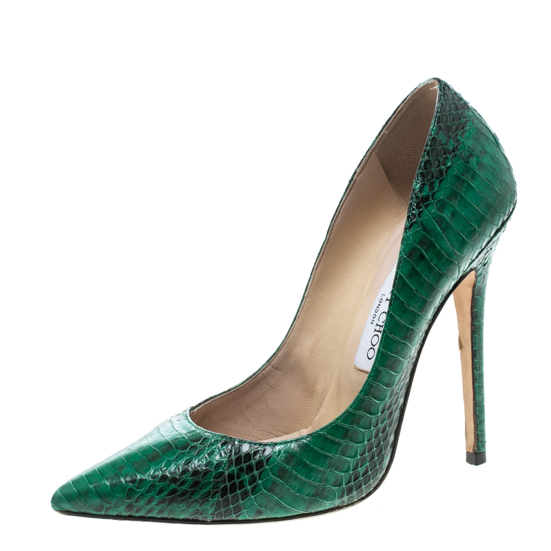 940c81bc976 ... Jimmy Choo Green Snakeskin Anouk Pointed Toe Pumps Size 38. nextprev.  prevnext