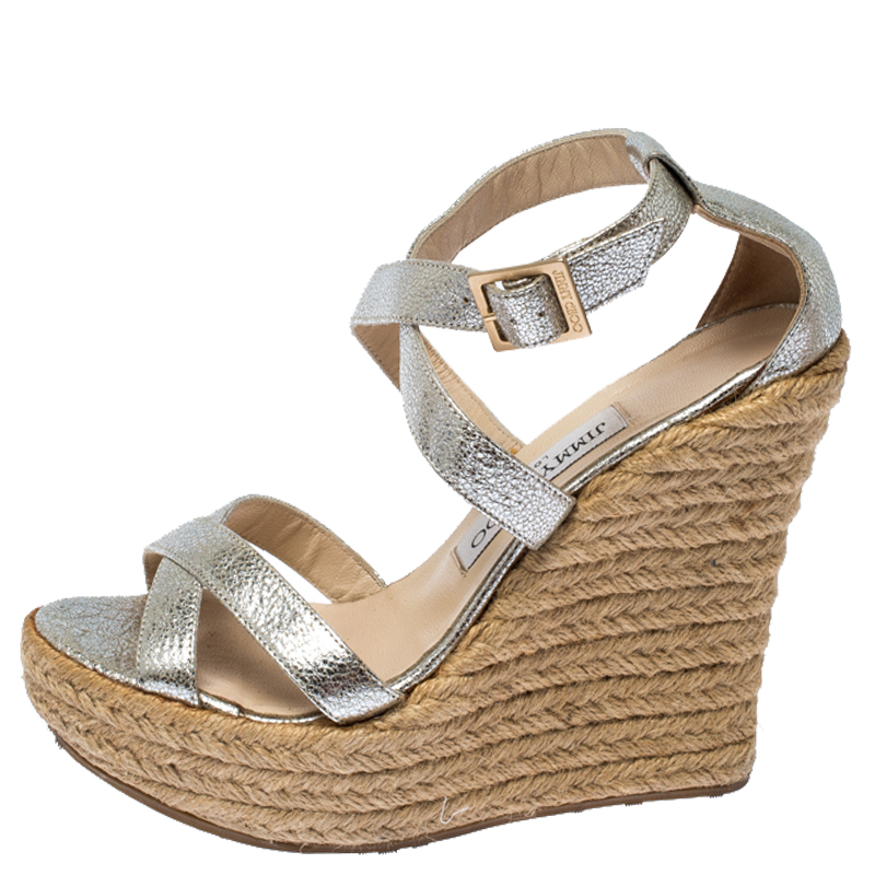 Jimmy Choo Silver Texture Patent