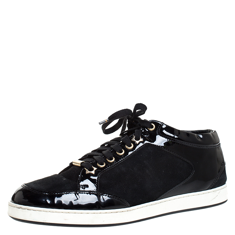 Jimmy Choo Black Suede and Patent