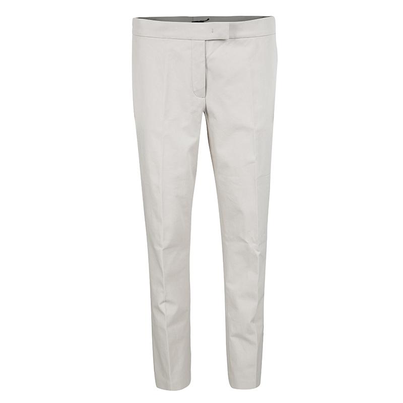 Joseph Beige Stone Light Cotton Stretch Finley Trousers M