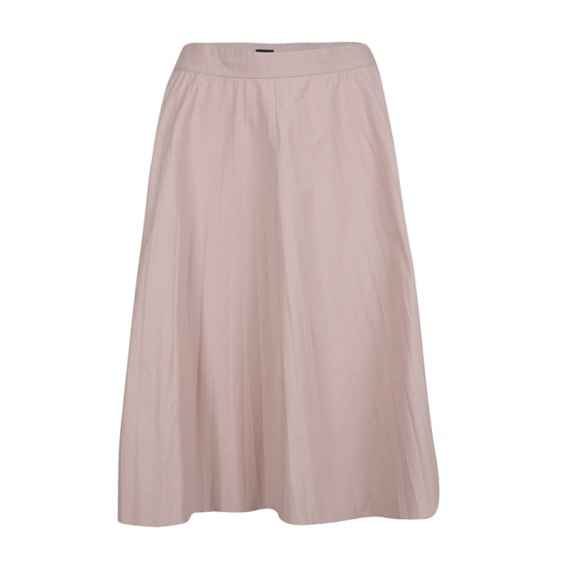 Joseph Pale Pink Cotton Poplin Pleated Hilde Skirt M