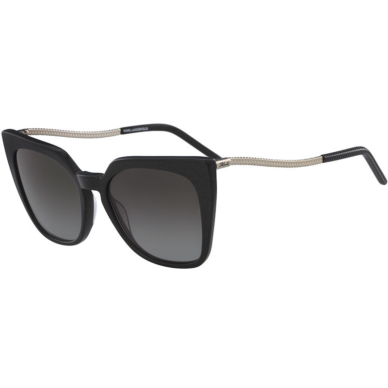 107d4de379 Karl Lagerfeld Black Glitter KL956S Cat Eye Sunglasses. nextprev. prevnext