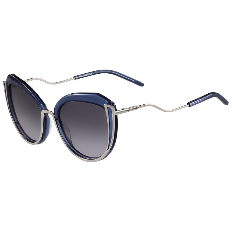 Karl Lagerfeld Shiny Grey KL928S Cat Eye Sunglasses
