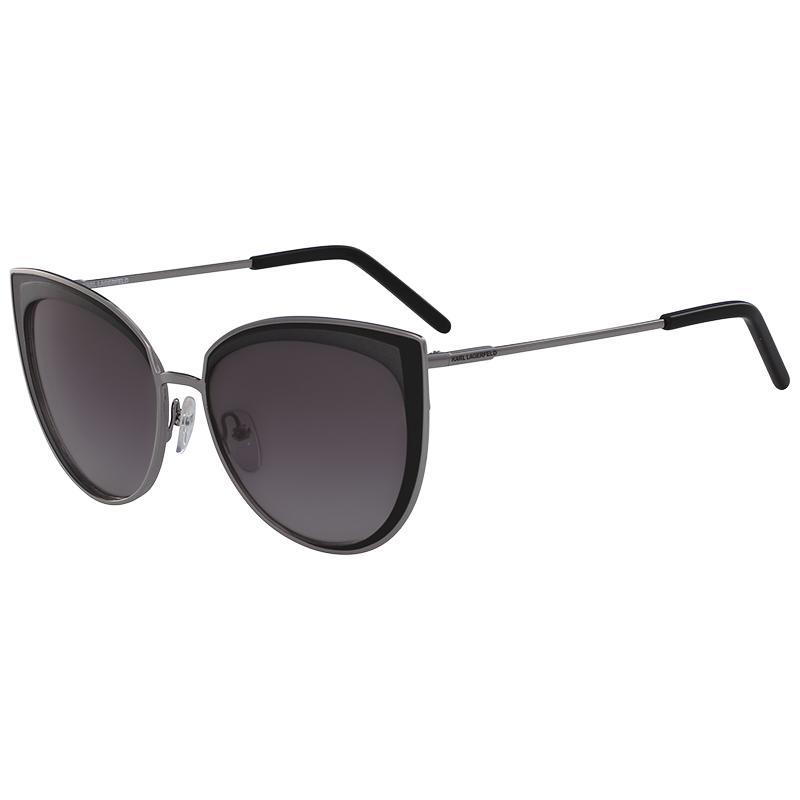 Karl Lagerfeld Shiny Gunmetal KL255S Cat Eye Sunglasses