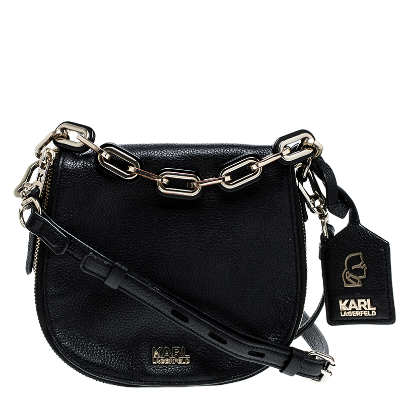 497faa0f4218 ... Karl Lagerfeld Black Leather Small K Shoulder Bag. nextprev. prevnext