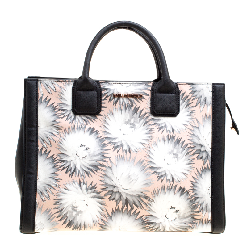 ee4b2b3b4 ... Karl Lagerfeld Black/Multicolor Printed Leather K Klassik Tote.  nextprev. prevnext