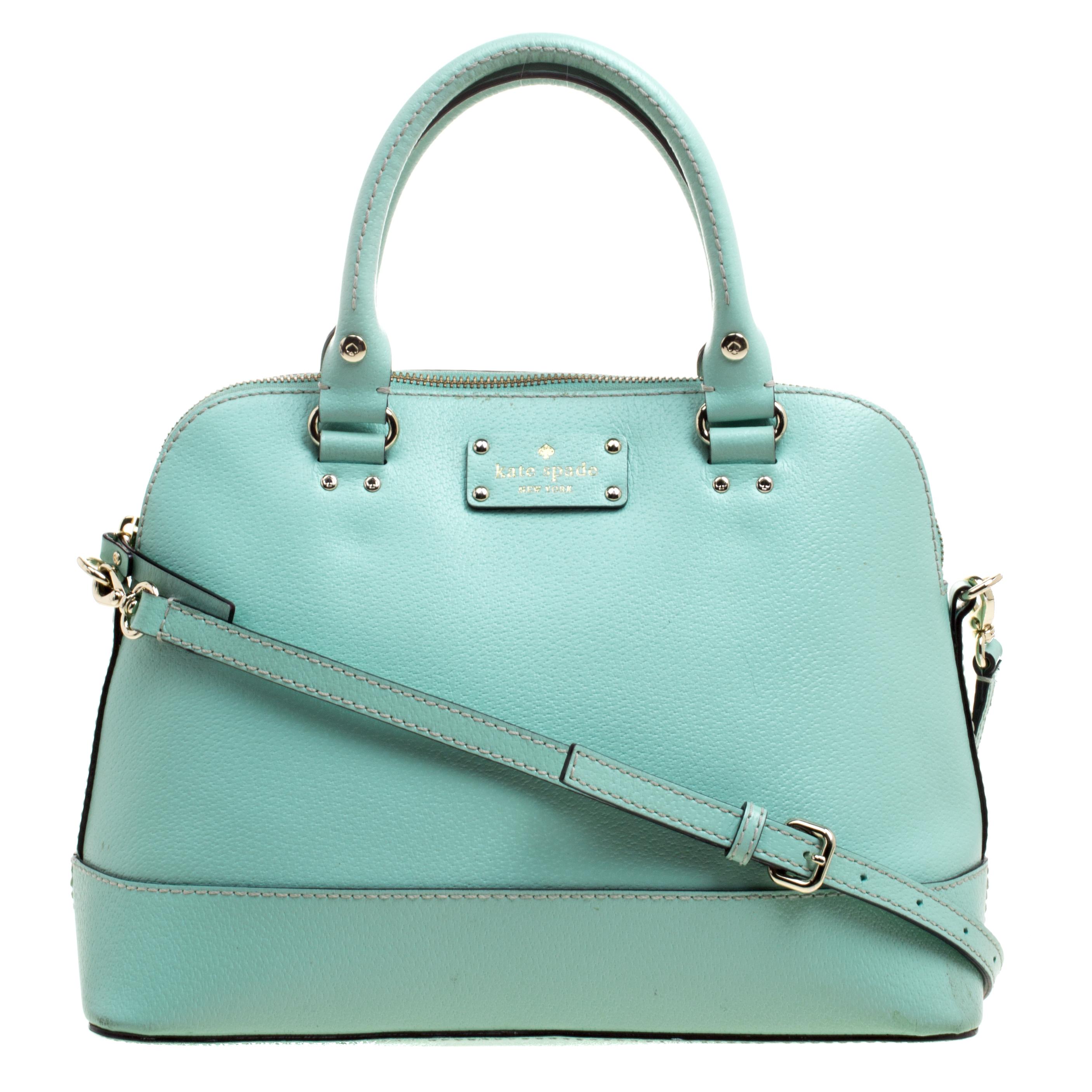 Buy Kate Spade Mint Green Leather Wellesley Rachelle Shoulder Bag ... 923cabd6715c3