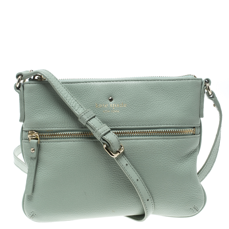 Kate Spade Mint Green Leather Crossbody Bag