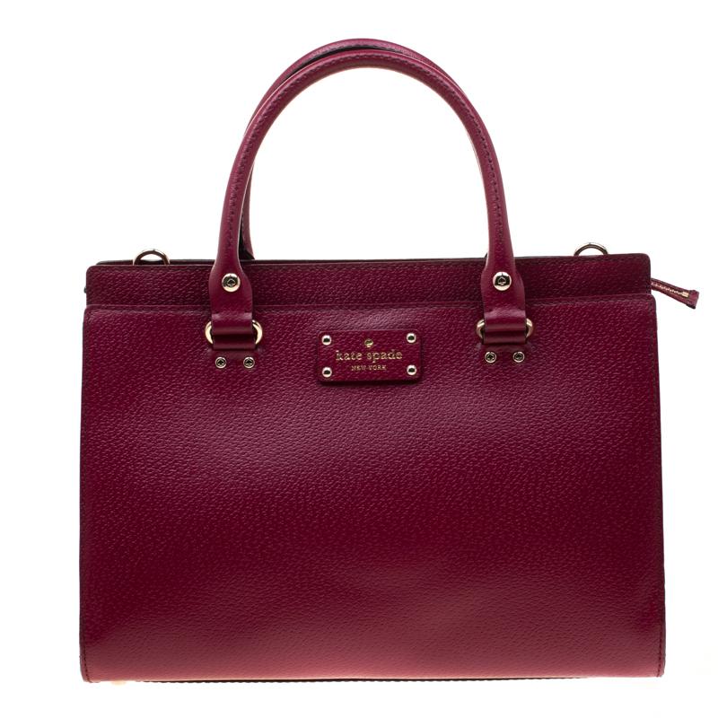 05eab5e483834a ... Kate Spade Magenta Leather Wellesley Durham Top Handle Bag. nextprev.  prevnext