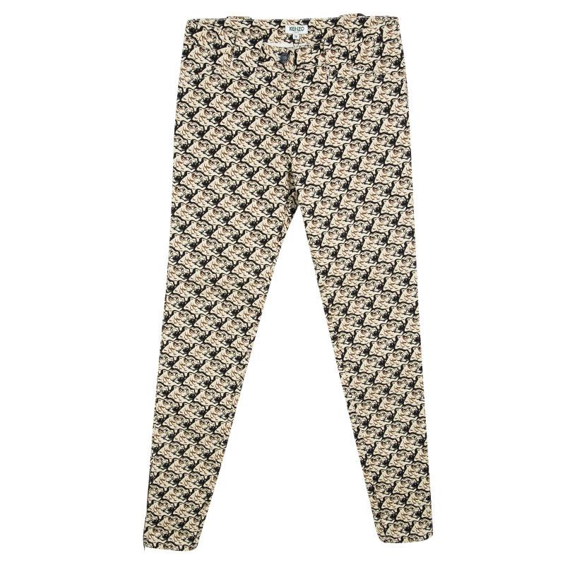 0cfc19516fdcf ... Kenzo Beige Tiger Printed Denim Skinny Jeans S. nextprev. prevnext