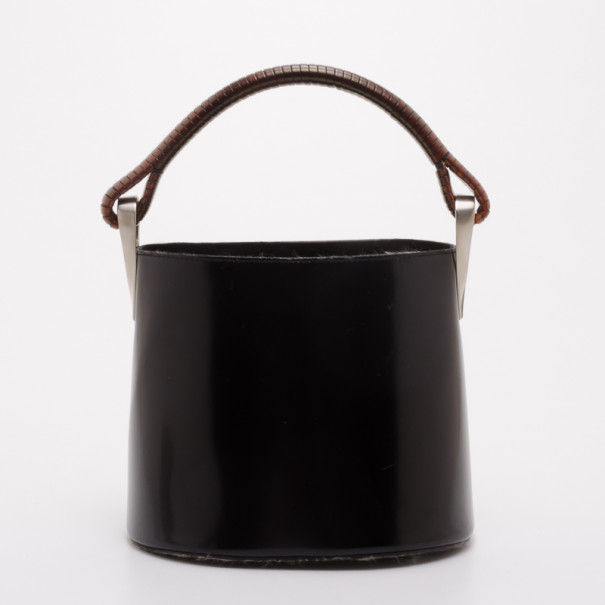 4525a2be52 Kenzo Vintage Black Leather Bucket Bag