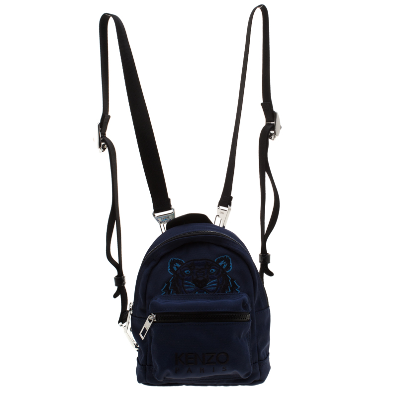 8163e5e3f3f Kenzo Navy Blue Tiger Canvas Mini Backpack