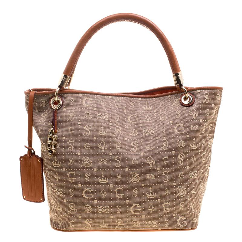 f865a7ba2818 Buy Lancel Beige Brown Daligramme Fabric and Leather Dali Fun Tote ...