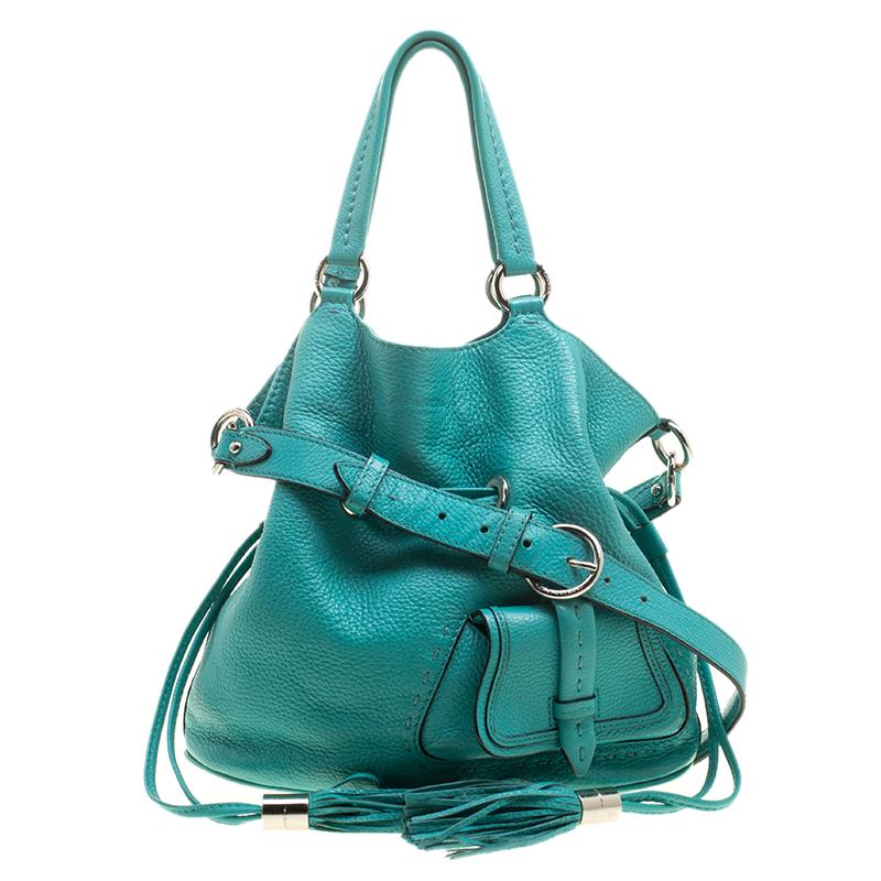88efa2aba4a8 Buy Lancel Green Leather Premiere Flirt Bucket Shoulder Bag 139991 ...